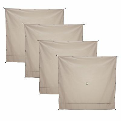 Gazelle Wind Panel Accessory for Portable Canopy Gazebo Screen Tents (4 Pack)