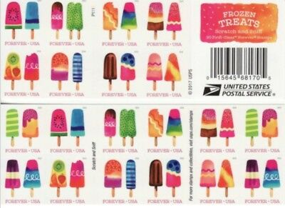 Frozen Treats Stamp Booklet -- Usa Forever Scratch & Sniff