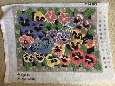 Joanna Allen Pansies completed tapestry