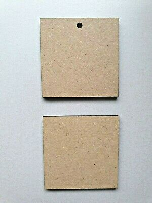 Wood Square shapes Laser Cut MDF, size options Craft