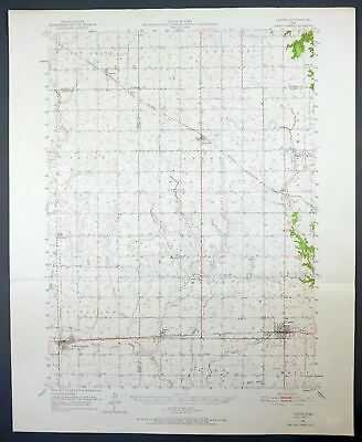 1951 Ogden Iowa Grand Junction Vintage 15-minute USGS Topo Topographic Map