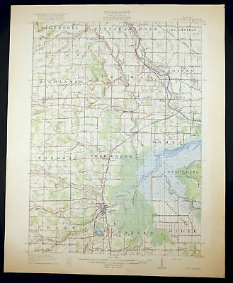 1917 Saint Charles Michigan Saginaw Township North Antique USGS Topo Map