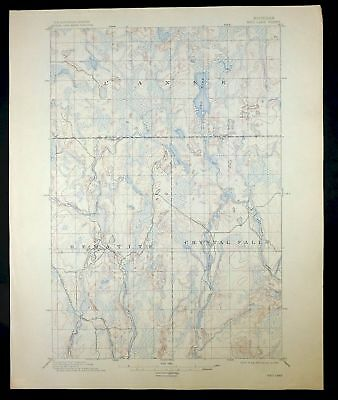 1895 Ned Lake Michigan Rare Antique Original 15-minute USGS Topo Topographic Map