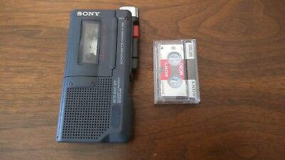 Sony Microcassette Recorder M-45 Tape Playe0r Clear Voice PlusTested w/cassette