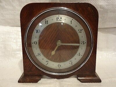 Smiths -?  Vintage Wooden Electric Mantle Clock...spares Or Repair.