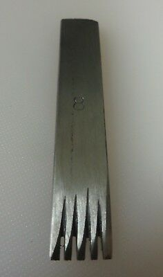 "Saddlers Leather Workers Tool  1/2"" Wide No 8 Pricking Iron  Made In England"