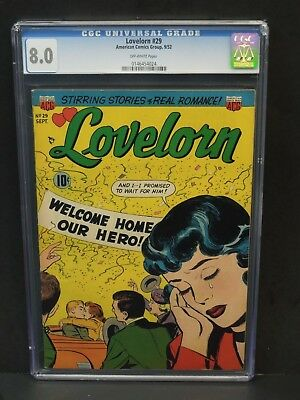 American Comics Group Lovelorn #29 1952 Cgc 8.0 Off-White Pages