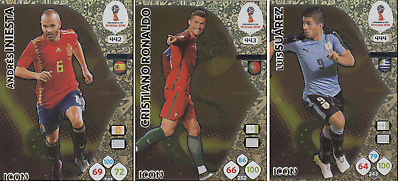 2018 Panini Adrenalyn XL FIFA WORLD CUP RUSSIA - ICON 3 CARDS set