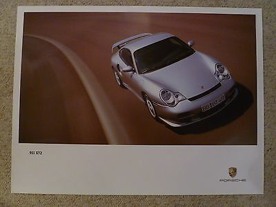2001 Porsche 911 GT2 Coupe Showroom Advertising Sales Poster RARE!! Awesome