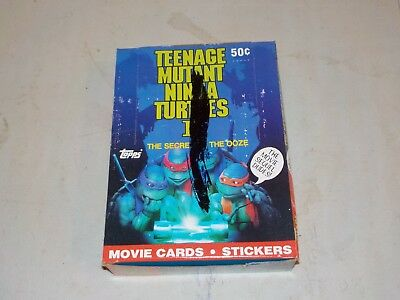 1991 Topps Teenage Mutant Ninja Turtles TMNT 2 Unopened Wax Box w/ 36 Packs