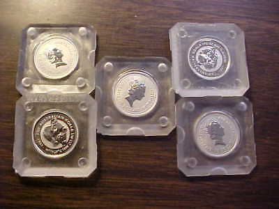 FIVE 1997 AUSTRALIA $15 KOALA PLATINUM 1/10oz COINS ORIGINAL Perth Mint CAPSULES