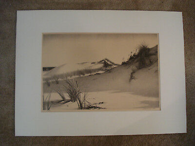 Stow Wengenroth Original American Pencil Signed Lithograph, Windy Dunes, 1951