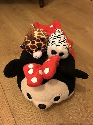 Disney Tsum Tsum Minnie Mouse Approx 30cm Long With 2 Minis