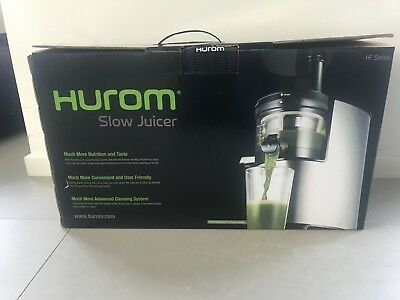 Hurom HF Series Cold Press Juicer Silver, Barely used
