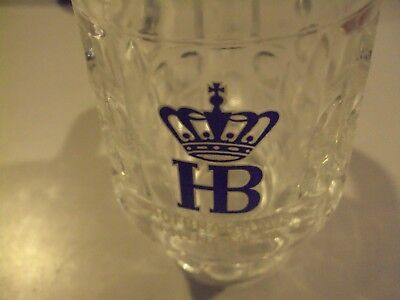 Hofbrau house glass beer stein half litre