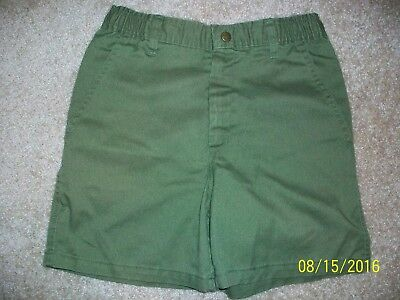 Official Boy Scouts Uniform Shorts in Olive Green Size 12/Waist 26