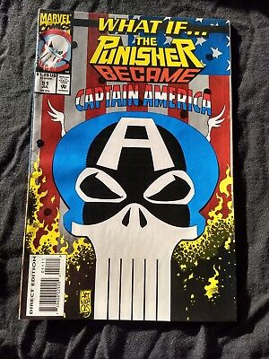What If 51 Vf Marvel 1993 Punisher Is Capt America? High Grade Uncertified++Sale