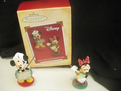 2004 Hallmark Disney Affection for Confections set of 2 ornaments Mickey Minnie