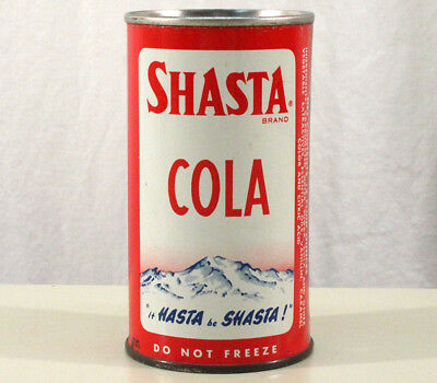 "Shasta Cola ""hasta Be Shasta"" Pre-Zip Flat Top Soda Can San Francisco California"