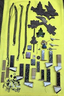 Vintage Cuckoo Clock Parts For Repair, Lot 0f Over 20 Pieces