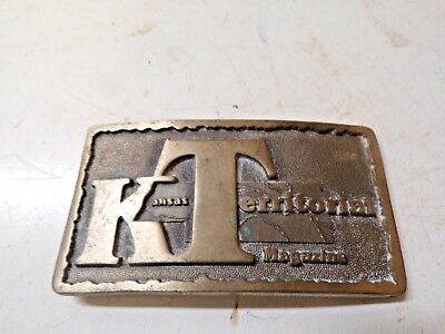 Old Brass Belt Buckle Kansas Territorial Magazine