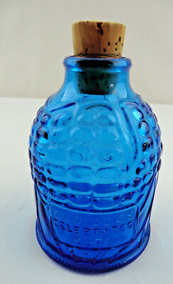 Wheaton NJ Blue Glass Bottle Corn Maize Concoction Old Doc's Celebrated Cure Vtg