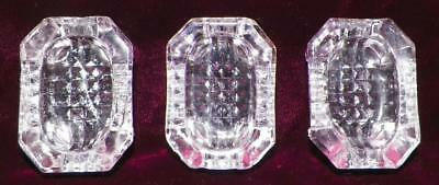 3 Antique Open Salt Cellars Dips Octagon Footed Clear Glass EAPG As Is #11