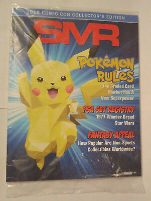 SMR Sports Market Report PSA/DNA Guide Comic Con Edition Pikachu July 2018