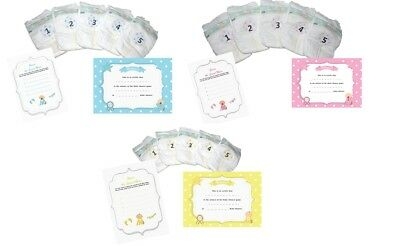 Dirty Nappy Baby Shower Game Players Girl Boy Neutral Gender Reveal Guess Mess