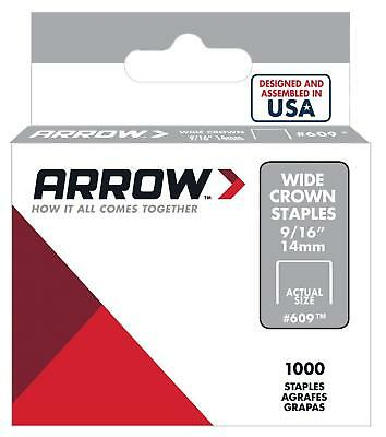 Arrow 60930 Wide Crown Swingline Style Heavy Duty 9/16-Inch Staples, 1000-Pack