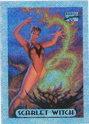 1994 Marvel Masterpieces #7 Scarlet Hexe Holofoil Chase Karte