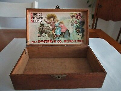 Antique,primitive,seed Box,wow, This Is Beautiful,must Open And Look At Pictures