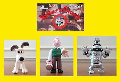 Wallace & Gromit (and Cyberdog) Collectible Figures c.1995 by Vivid
