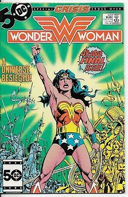 1986 Wonder Woman Issue #329 Dc Comic Book Bag/board Vintage Rare Last Issue