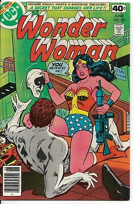 1979 Wonder Woman Issue #256 Dc Comic Book Bag/board Vintage Rare