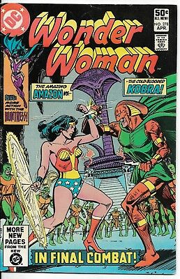 1981 Wonder Woman Issue #278 Dc Comic Book Bag/board Vintage Rare