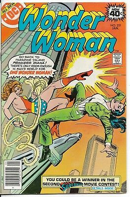 1979 Wonder Woman Issue #251 Dc Comic Book Bag/board Vintage Rare