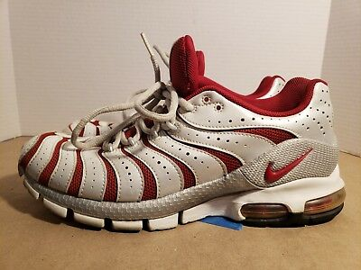 cheap for discount 8b24d 09c2f Nike Air Turbulence Running Shoes US 8.5 White Red Vintage Athletic
