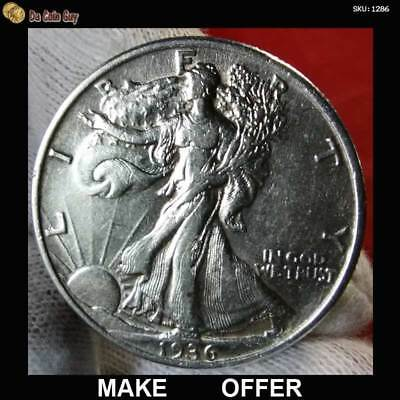 RARE 1936 Walking Liberty Silver Half Dollar ~ XF/AU HIGH GRADE, REALLY NICE!!