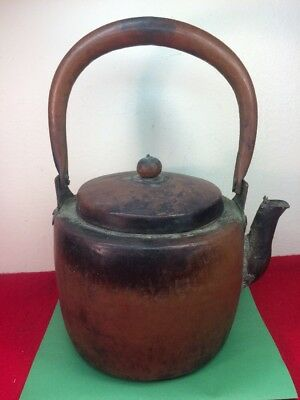 Antique Vintage Hammered Copper TEA KETTLE Teapot Kettle Old & Beautiful!