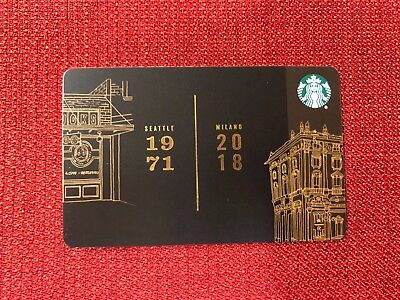 New Starbucks 2018 Us Milano Roastery Gift Card Very Limited Grand Opening