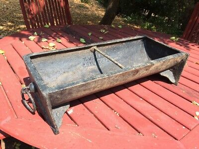 Vintage Antique Cast Iron Water Feeder Trough T.W. HARVEY Cheltenham Old Beauty!