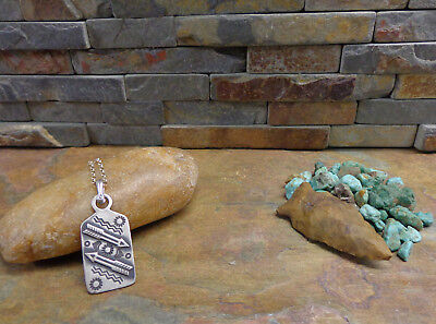 Rare Navajo Sterling Double Arrow War Fob Pendant Necklace Native Old Pawn Era