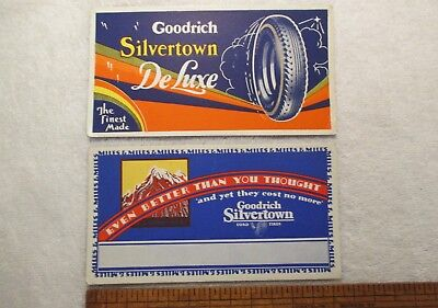 Two Early Goodrich Silvertown Tire Advertising Blotters Automobile