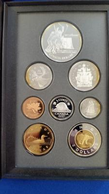 "1997-CANADA 8 Coin SILVER Proof Set ""Silver $1, 50c, 25c, 10c, 5c"" PS38 cat.$100"