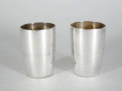 (2) Tiffany & Co Sterling Silver Shot Cups Germany