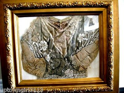 antique mourning CHILD'S JACKET rare lace silk velvet w/ FRED MORGAN rear PRINT