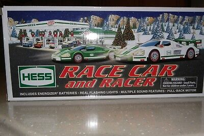 2009 Hess Toy Truck Race Car and Racer - Real Lights, Sound *NIB* never used