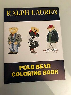 Vintage RARE Used Ralph Lauren Polo Bear Coloring Book + Sticker Set