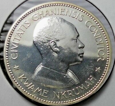 1958 GHANA 10 SHILLINGS Independence of Ghana 925 Silver Proof Mintage 11.000
